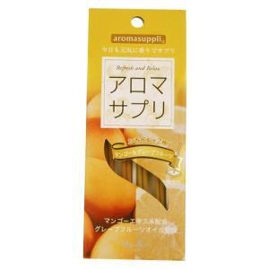 日本香堂 アロマサプリ マンゴー&グレープフルーツ スティック 16本 お香