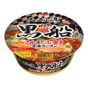 明星 大船渡秋刀魚だし黒船 さんまだし香る醤油ラーメン 97G×12個セット