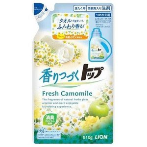 ライオン トップ 香りつづくトップ Fresh Camomile 詰め替え 810G 衣料用液体合成洗剤|ehac