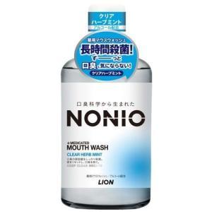ライオン NONIO (ノニオ) マウスウォッシュ クリアハーブミント 600ML 洗口液 (医薬部...