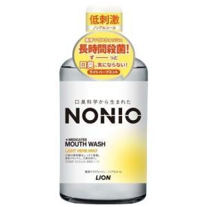 ライオン NONIO (ノニオ) マウスウォッシュ ノンアルコール ライトハーブミント 600ML 洗口液 (医薬部外品)|ehac