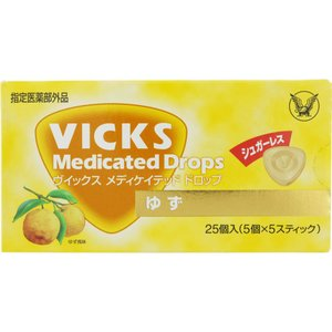 大正製薬 ヴイックスメディケイテッドドロップシュガーレスゆず 25粒 ehac