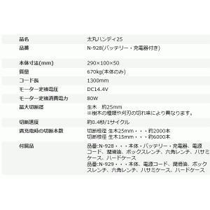 【送料込】ニシガキ 充電式剪定鋏 太丸ハンディ25 (バッテリー・充電器付き) N-928 |ehanshinys|07