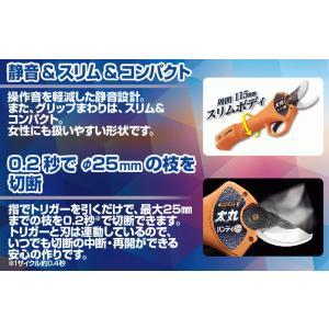 【送料込】ニシガキ 充電式剪定鋏 太丸ハンディ25 (バッテリー・充電器付き) N-928 |ehanshinys|08