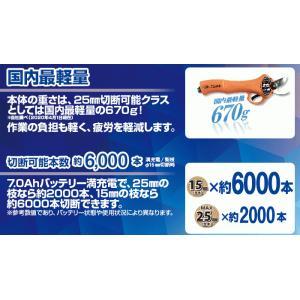 【送料込】ニシガキ 充電式剪定鋏 太丸ハンディ25 (バッテリー・充電器付き) N-928 |ehanshinys|09