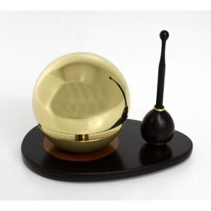 ◆リン&リン台&リン棒◆たまゆらりん1.8寸 セット(黒檀)《家具調仏具・モダン仏具》|eharabutsugu