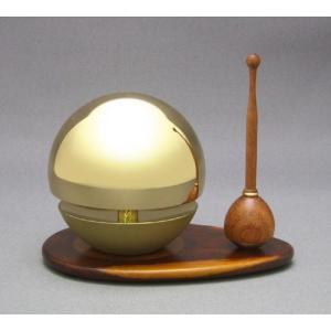 ◆リン&リン台&リン棒◆たまゆらりん2.0寸 セット(紫檀)《家具調仏具・モダン仏具》|eharabutsugu