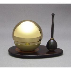 ◆リン&リン台&リン棒◆たまゆらりん2.0寸 セット(黒檀)《家具調仏具・モダン仏具》|eharabutsugu