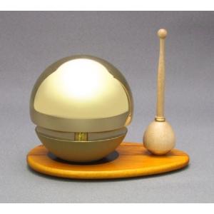 ◆リン&リン台&リン棒◆たまゆらりん2.0寸 セット(桑色)《家具調仏具・モダン仏具》|eharabutsugu