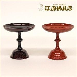高月(溜色・朱色) 2.5寸 1つ 仏具|eharabutsugu