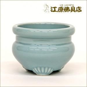 青磁 線香立 2.5 仏具|eharabutsugu