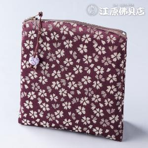 [ゆうパケットOK]金襴ポーチ型(日和)薄紫《数珠袋・数珠入れ》|eharabutsugu