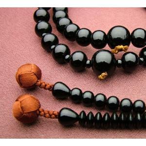 『ゆうパケットOK』黒檀 共仕立浄土宗 男性用 本式念珠 数珠|eharabutsugu