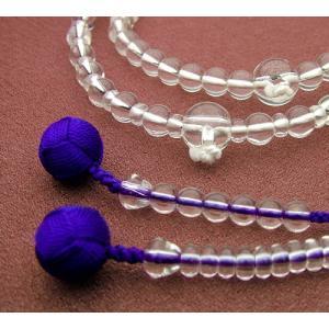 『ゆうパケットOK』ハリ水晶 共仕立浄土宗 女性用 本式念珠 数珠|eharabutsugu