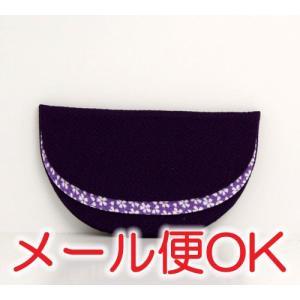 [ゆうパケットOK]ちりめん半月(紫)《数珠袋・数珠入れ》|eharabutsugu
