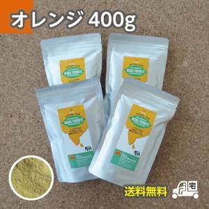 ナチュラルヘナ(オレンジ)400gセット≪ヘアキャップ,手袋,取説付≫【送料無料】
