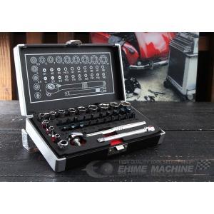 Pro-Auto 6.3sq. 3D首振りラチェットハンドル豪華35点セット 3DR-235S
