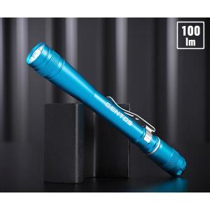 【8月の特価品】 GENTOS ジェントス 100lm 高出力ペンライト AP-100BL (ブルー) 耐塵 耐水 2m落下耐久|ehimemachine