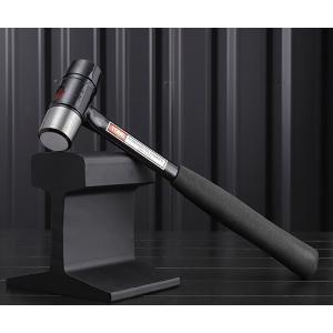 スチールとウレタンの2つのヘッドを備えた高強度のブラックシャフトハンマーです。  ■型式:BHC-1...