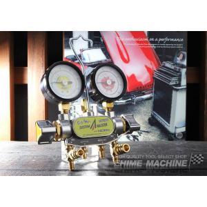 DENGEN 134a用2バルブマニホールドゲージ CP-MG213N|ehimemachine