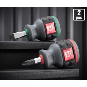 在庫有り KTC 樹脂柄スタッビドライバーお買い得2点セット D1PMS-2P(D1PS-2,D1MS-6)|ehimemachine