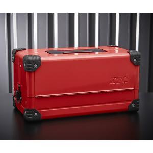 在庫有 両開きメタルケース レッド EK-10AR3 工具箱|ehimemachine