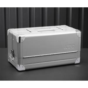 在庫少 KTC 両開きメタルケース メタリックシルバー EK-1A 工具箱|ehimemachine