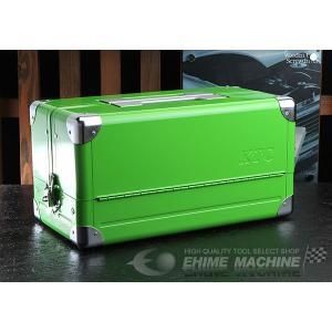 在庫有 KTC 両開きメタルケース グリーン EK-1AGR 工具箱|ehimemachine