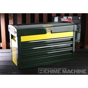 在庫有 KTC ツールチェスト EKR-103DGR ディープグリーン×イエロー ツールケース 工具箱|ehimemachine