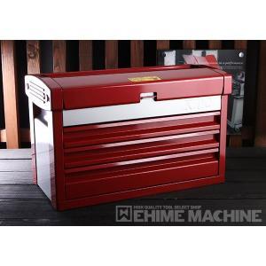 在庫有 KTC ツールチェスト EKR-103PR パールレッド×シルバー ツールケース 工具箱|ehimemachine