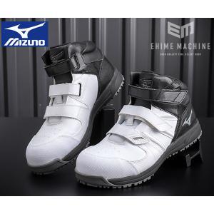 [新製品] ミズノ 安全靴 F1GA190210 ホワイト×グレー×ブラック オールマイティ ワーキングシューズ|ehimemachine