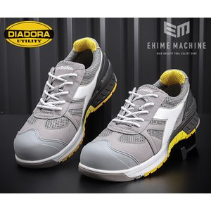 DIADORA ディアドラ GULL ガル スニーカー安全靴 グレー×ホワイト×グレー GL-818 ehimemachine