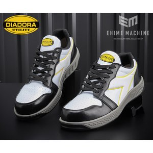 DIADORA ディアドラ 安全靴 GREBE グレーブ スニーカー安全靴  ブラック&ホワイト GR-211 ehimemachine