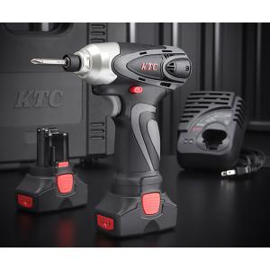 【5月の特価品】 KTC コードレス充電式 電動インパクト ドライバーセット JTAE115|ehimemachine