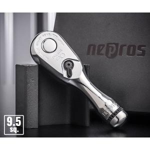 NEPROS NBR390S 全長100mm 9.5sq.ショートラチェットハンドル ネプロス ehimemachine