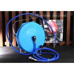 ポリウレタンブレードホース採用エアーホースリール(カプラ付) 内径6.5mm 長さ10m OG-AR610|ehimemachine