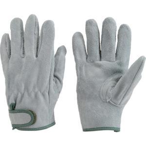 TRUSCO オイル加工革手袋 マジック式 Lサイズ TYK-717PW-L トラスコの画像