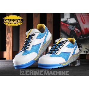 DIADORA ディアドラ 安全靴 RAGGIANA ラジアナ スニーカー安全靴  ホワイト×ブルー RG-14 ehimemachine