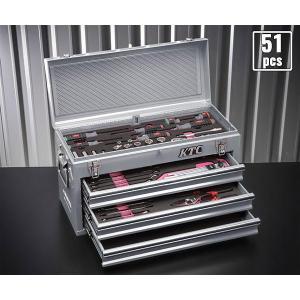 在庫有 KTC 9.5sq. 51点工具セットSK35119XS(豪華特典付)シルバー 新設計トレイ採用ツールセット|ehimemachine