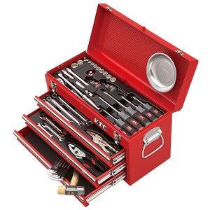 在庫有 KTC 工具セット 9.5sq./インチ 54点ツールセット レッド (豪華特典付) SK35418BX|ehimemachine