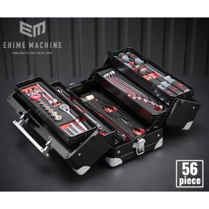在庫少 KTC 9.5sq. 56点工具セット SK35619WGBK(豪華特典付)ブラック スタンダードツールセット|ehimemachine