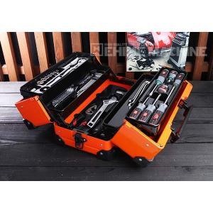 在庫有 KTC 9.5sq. 56点工具セット SK35619WZBR(豪華特典付)ブライトオレンジ スタンダードツールセット|ehimemachine