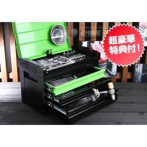 在庫有 KTC 工具セット 9.5sq. 66点ツールセット グリーン×ブラック (豪華特典付) SK36618EGR|ehimemachine