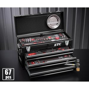 在庫有 KTC 工具セット 9.5sq. 67点ツールセット (豪華特典付) SK36718XBK|ehimemachine