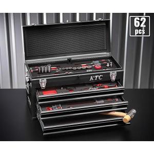 在庫有 KTC 工具セット 9.5sq./65点セット (特典付) SK3660GXBKEM|ehimemachine