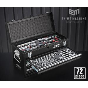 【KTC】 SK37220XMBKEM 9.5sq. 72点工具セット マットブラック オリジナルツ...