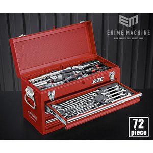 【KTC】 SK37220XMREM 9.5sq. 72点工具セット マットレッド オリジナルツール...