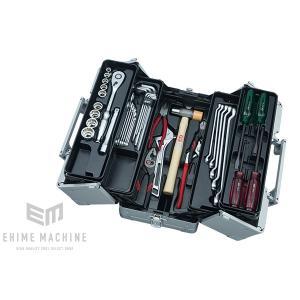 在庫少 KTC 12.7sq.41点工具セット SK44119WM(豪華特典付)メタリックシルバー  一般機械整備用ツールセット|ehimemachine
