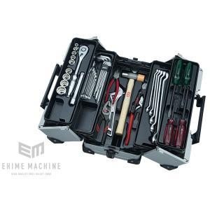 在庫少 KTC 12.7sq.41点工具セット SK44119WMZ(豪華特典付)メタリックシルバー  一般機械整備用ツールセット|ehimemachine