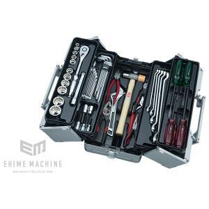 在庫少 KTC 12.7sq.51点工具セット SK45119WM(豪華特典付)メタリックシルバー  一般機械整備用ツールセット|ehimemachine